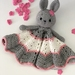 Crochet Bunny Taggie/Cuddle/Lovey Blanket