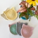 Handmade reusable cat face scrubbies/Coaster