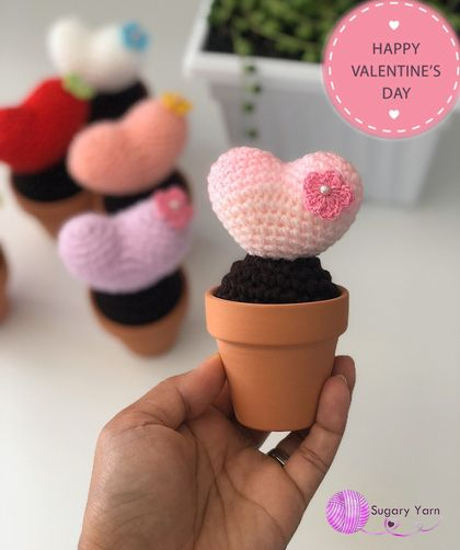 Crochet Valentine Love Heart (made to order)