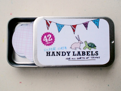 Sliding Tin of Super Cute Glossy Labels