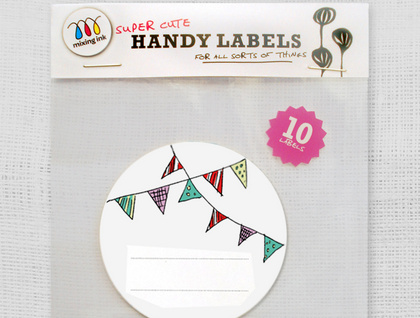 10 Bunting Sticky Labels