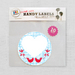 10 Love Bird Sticky Labels