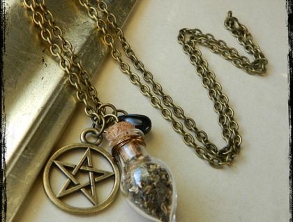 ~Wiccan~ Witches Brew Vial Necklace