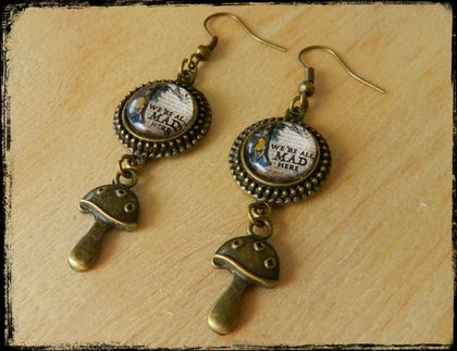 ~We're All Mad Here~ Wonderland Inspired Earrings