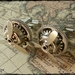 Steampunk Airship Propeller Cufflinks ~Silver~