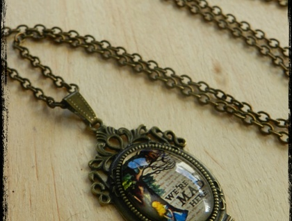~We're All Mad Here~ Wonderland Inspired Necklace