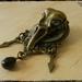 Steampunk Inspired Skull Clockwork Brooch