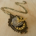Steampunk Bird Clockwork Pendant Necklace