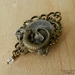 Beautiful Steampunk Clockwork Lizard Brooch
