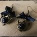 ~Wonderland~ Inspired Teapot Black Earrings
