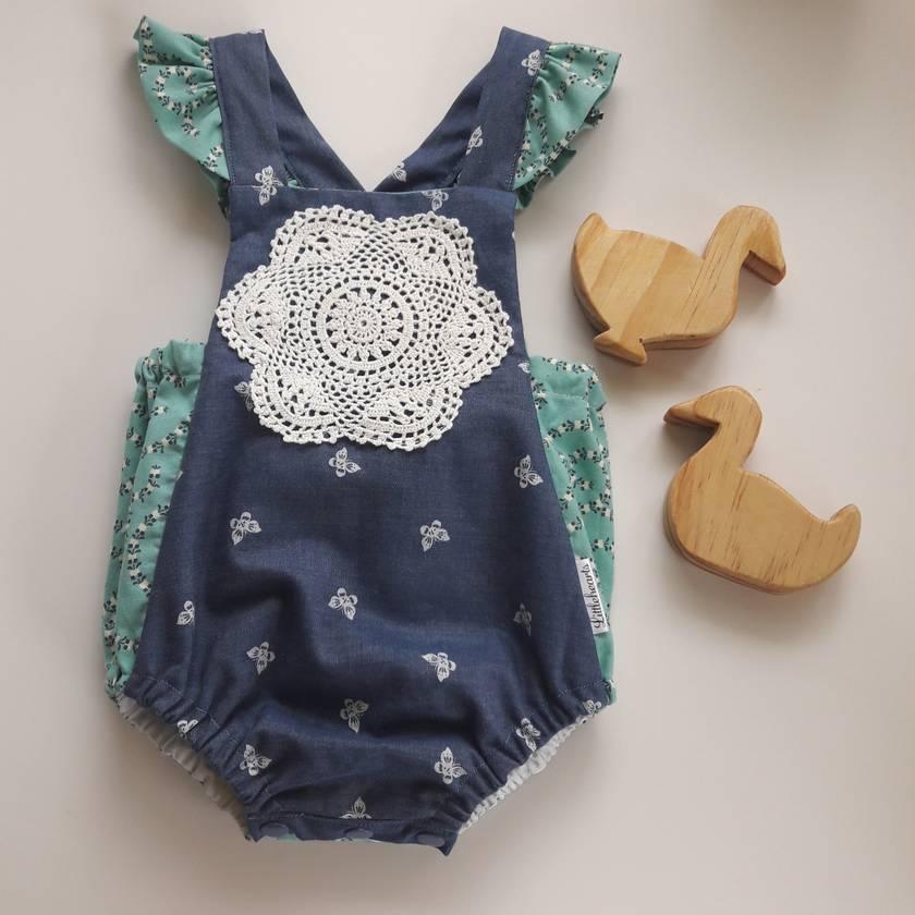 (SALE) Vintage Inspired Baby Romper 0-3months