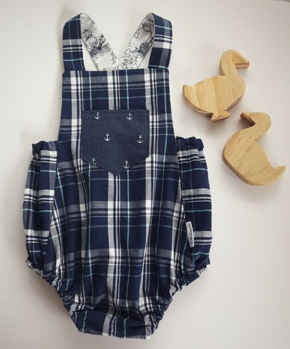 Vintage Inspired Baby Romper 12mths