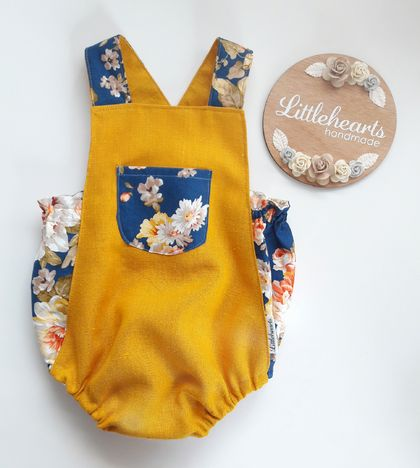 Vintage Inspired Baby Romper NEWBORN New