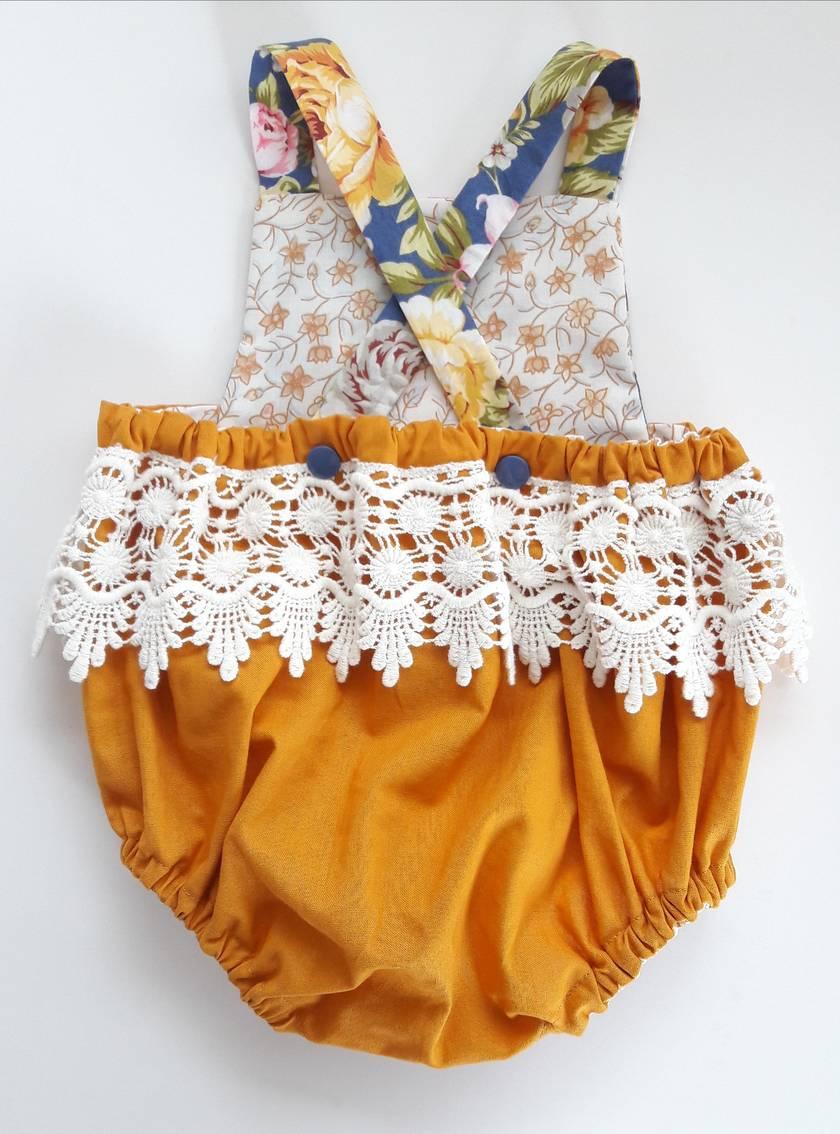 Vintage Inspired Baby Romper NEWBORN