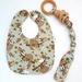 Snap-on Organic Wooden Teething Ring & Bib SET