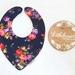 Triple Layer Dribble Bib - Navy Floral