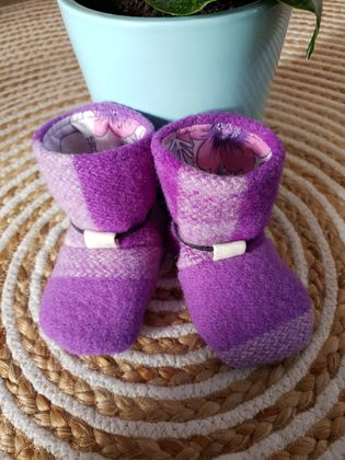 Wool Tie-Back Booties Size 3 (11.5cm)