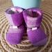 Wool Tie-Back Booties Size 3 (11.5cm)