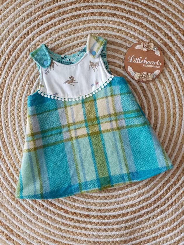 Pinny Style Wool Dress- Size 18mth