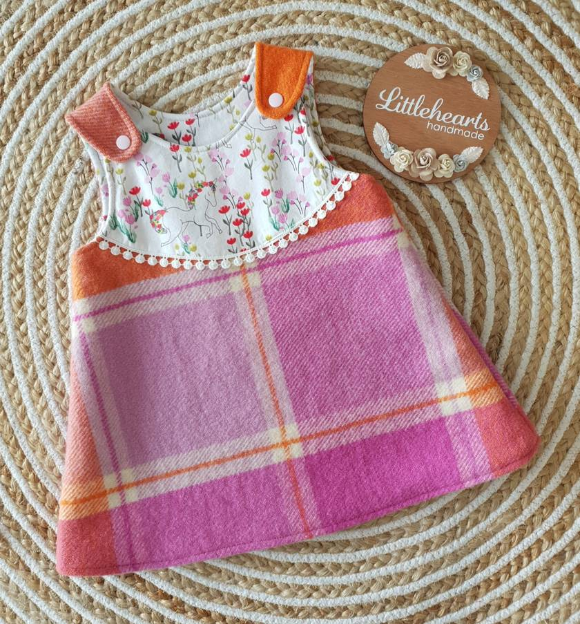 Pinny Style Wool Dress- Size 1 SALE
