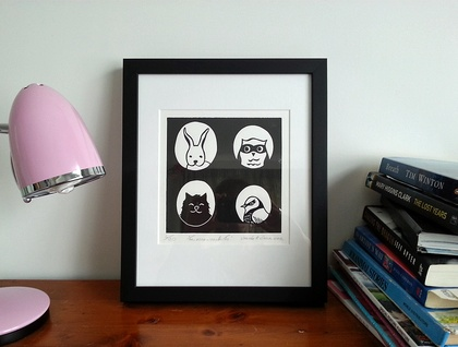Limited Edition Lino Cut - The Usual Suspects