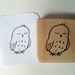 Hand Carved Rubber Stamp - Sleepy Baby Ruru (Morepork)