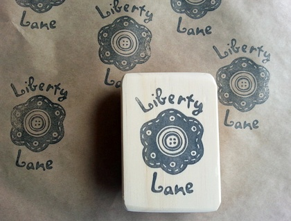 Large Custom made Hand Carved Rubber Stamp No.1