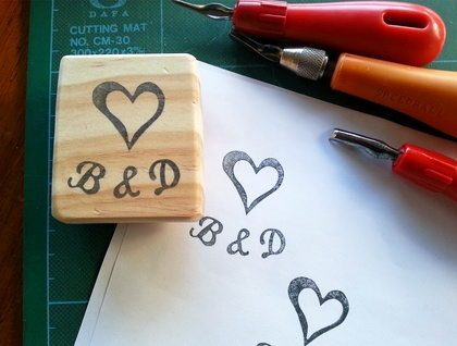 Custom made Hand Carved Rubber Stamp No.2