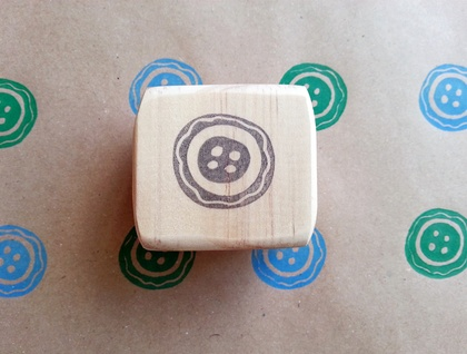 Hand Carved Stamp - Button