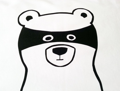 Hand Printed 300 Thread Count Pillowcase - Bandit Bear