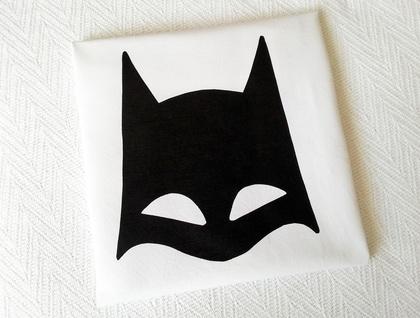 "Customised Handprinted 300 Thread Count Pillowcase - ""The Bat"" (aka Batman)"
