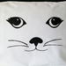 Handprinted 300 Thread Count Pillowcase - Cat face (female)