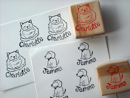 Personalised Hand Carved Rubber Stamp stamp personalised