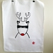 "Handprinted Tea Towel - Santa's Superhero ""Rudolph"""