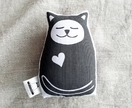 Small Handprinted Softie - Sleepy Cat