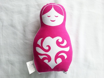 Handprinted Softie - Pink Russian Doll