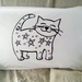 "Handprinted 300 Thread Count Pillowcase - ""Cosmic Cat"""