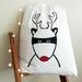 """Handprinted Santa Sack - Santa's Superhero """"Rudolph"""""""