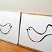 Handprinted 300 Thread Count Pillowcases - Love Birds