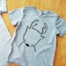 "Hand Printed Kids T-Shirt - ""Daring Deer"""