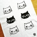 Handprinted Tea Towel - Kitty!