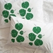 Hand Printed 300 Thread Count Pillowcase - Kawakawa Leaves