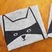 Handprinted 100% Linen Tea Towel - Cat in Disguise