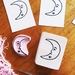 Hand carved stamp - Sweet Crescent Moon