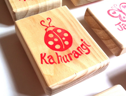Personalised Hand Carved Rubber Stamp