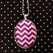 Mauve / Purple Chevron necklace