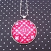 PINK WHITE & BOLD 40mm Necklace