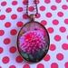 Dahlia Pink Flower necklace