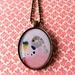 'Pink Budgie' bird necklace