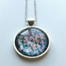 Shimmery Teal Blue, Light Purple necklace - 25mm